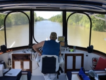Jeff at the helm