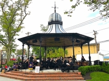 Atlantic Brass Band concert in bandstand