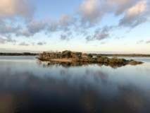 Island along ICW