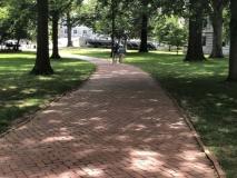Sidewalk on academy grounds