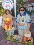 Kathy & Tom;  Tom likes his ice cream!