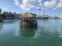 Tiki bar on the water