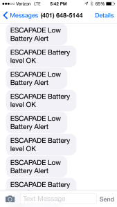 Alarm messages