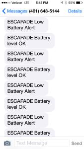Alarm messages