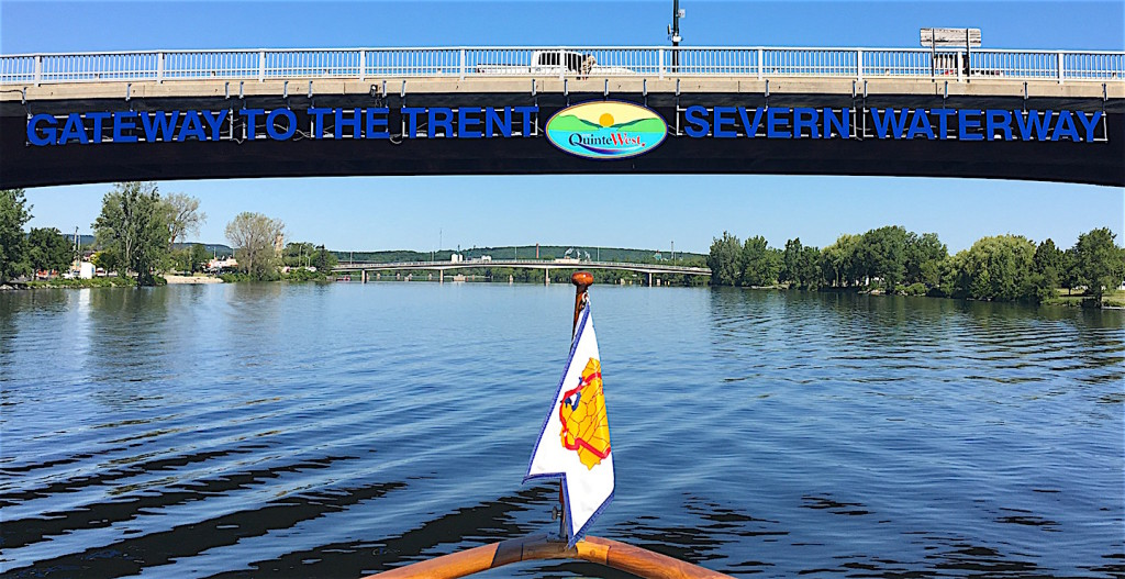 Entering the Trent-Severn Waterway