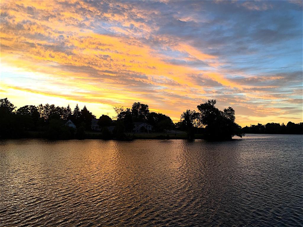 Sunset on the Trent-Severn Waterway
