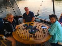 Qwirkle on the aft deck