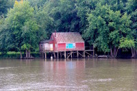 Riverside shack