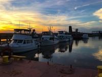 Sunset at Kaskaskia River lock