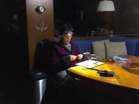 Paula knitting