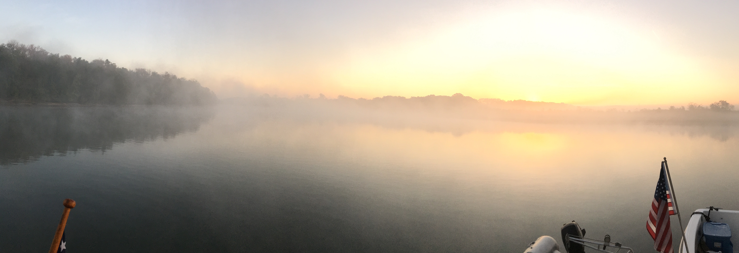Sunrise fog at Double Island